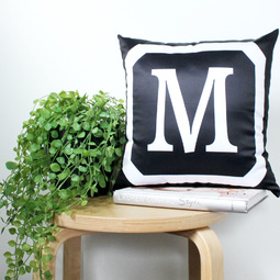 Monogrammed Cushion Cover