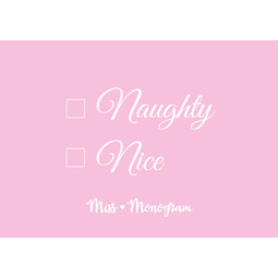 Gift card Naughty or Nice Pink