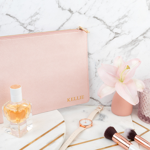 Miss Victoria Clutch Metallic Rose Gold