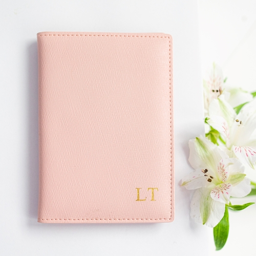 Miss Megan Passport Holder Dusty Pink