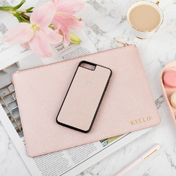 Miss Evie Jean iPhone Cover Rose Gold