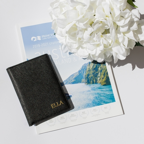 Miss Grace Deluxe Passport Wallet Black
